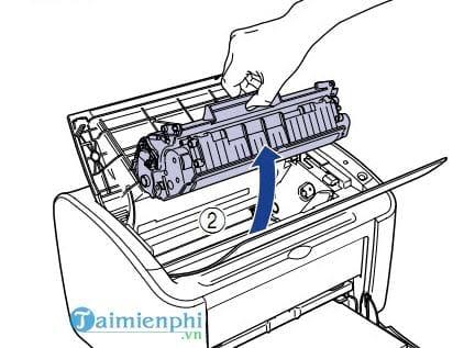 Bước 1: tháo rời hộp mực máy in