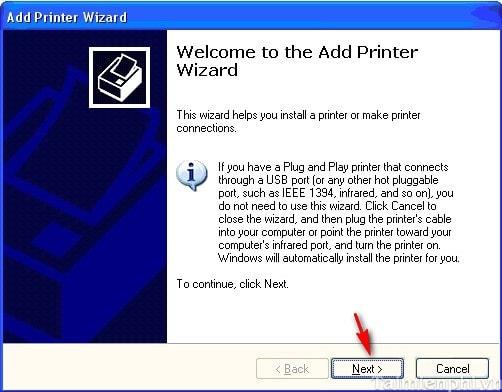 Add Printer Wizard