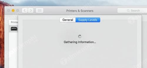 Kiểm tra mực của máy in trên Macbook